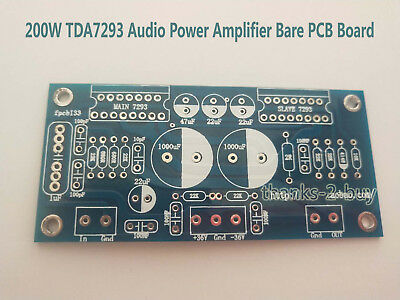 200W TDA7293 In Parallel Audio Power Amplifier Bare PCB Board DIY 90X42mm