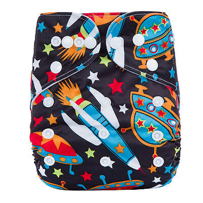 Awesome Space Rockets MODERN CLOTH NAPPIES SHELL - REUSABLE ADJUSTABLE DIAPERS