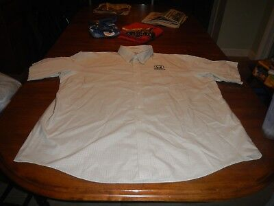 vintage honda embroidered ll bean wrinkle resistant button front shirt mens 2xl