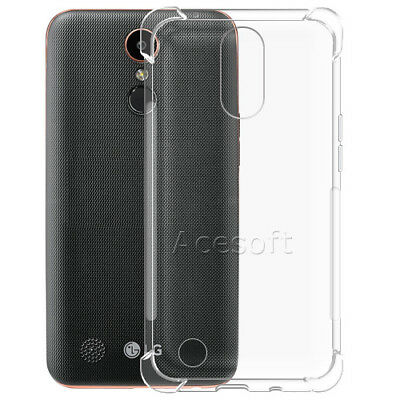 1PCS Ultra Thin Clear Soft Silicone Gel TPU Back Case Cover for AT&T LG K20 M255