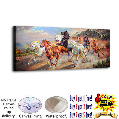 A Group of Running Horses HD Canvas prints Painting Home Decor Picture Wall art