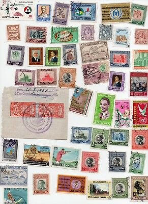 JORDAN Stamps 50 All Different - Off paper