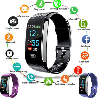 Smart Bracelet Watch Heart Rate Monitor For Ios & Android Blood Pressure Fitness