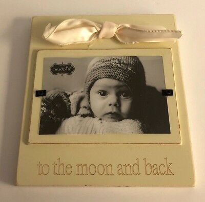 Mud Pie Picture Frame Yellow To the Moon and Back Infant Baby