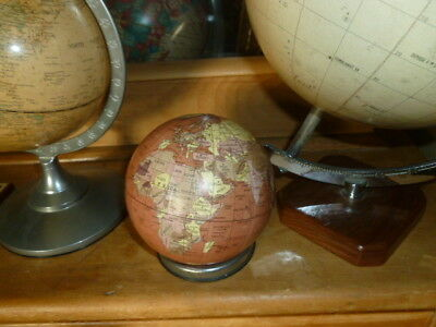 Vintage style small metal World Globe map ideal gift