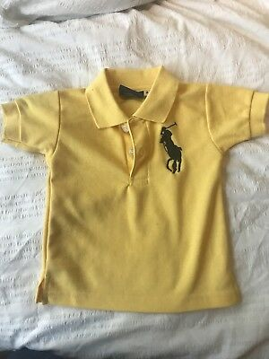 Polo Ralph Lauren Baby - Size 2 - Polo Shirt - Yellow With Navy Pony - NWOT