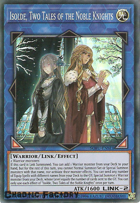 Yugioh Isolde, Two Tales of the Noble Knights Super Rare SOFU-ENSE1 NM