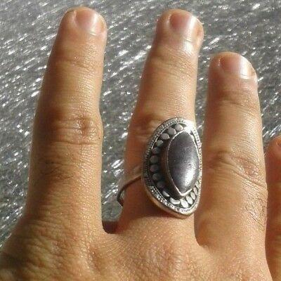 LOW OUTBID !!EXTREMELY Ancient VIKING SILVER-BRONZE RING museum quality ARTIFACT