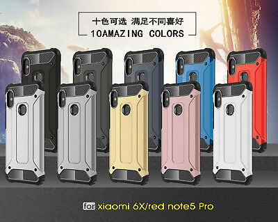 For Xiaomi Redmi Note 5 6 Pro Rugged Hybrid Armor Shockproof Hard Cover Case
