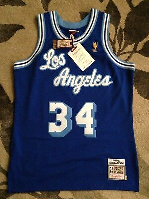 huge discount 4026c 68d1e AUTHENTIC 96-97 SHAQUILLE Oneal Mitchell & Ness Hardwood Classic Jersey  Blue 2XL