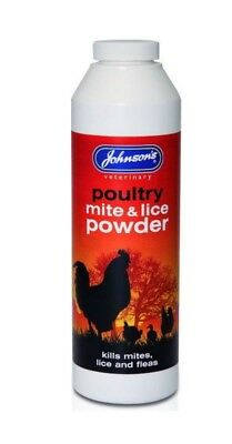 Johnsons Poultry mite & lice powder 250g - Treatment chicken turkey coop aviary