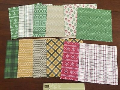 """stampin up 12 x Warmth Cheer designer series paper 6""""x6"""" double sided -Christmas"""