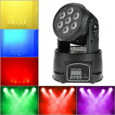 4Pack 70W RGBW Spot LED Stage Lighting Moving Head DMX Sound Active Show Light