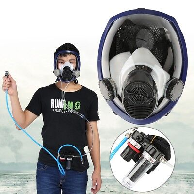 Air Fed Supply Gas Mask Full Face Airline Respirator for Paint Spraying Welding
