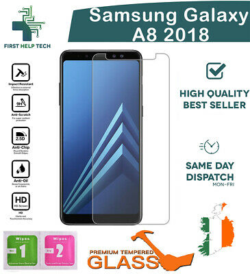 For Samsung Galaxy A8 2018 - Premium Tempered Glass Screen Protector Cover Guard