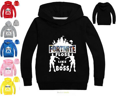 Kids Hoodies Fortnite floss Game Sweatshirts Boys Jackets 2-11 years