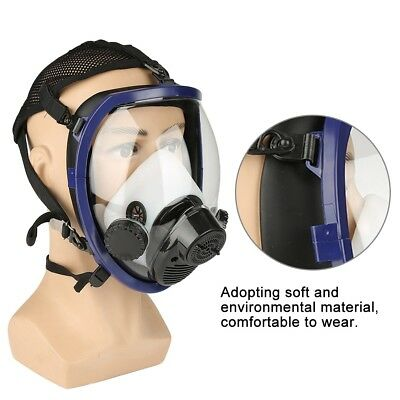 Supplied Air Fed Respirator System Paint Spraying Welding Full Face Gas Mask wtt