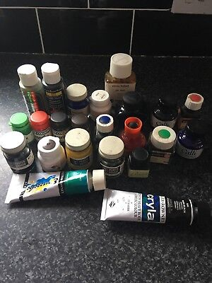 Job Lot Of Calligraphy Inks And Paints