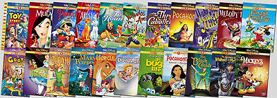 Various Disney, Pixar, Animated DVD R1 Movies Kids Christmas - Combined Shipping