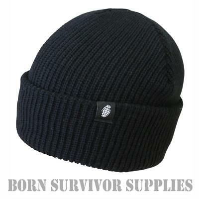 Kombat Black Tactical Bob Hat - Watch Cap Recce Army Airsoft Beanie Security