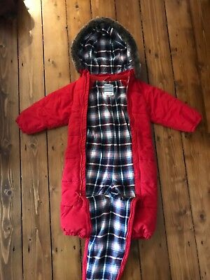 john lewis red snowsuit age 12-18 months excellent condition