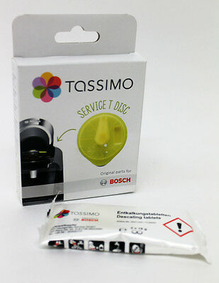 Genuine T Disc For Tassimo Yellow Clean Disc & 2 Descaling Tabs - 621101 311530S