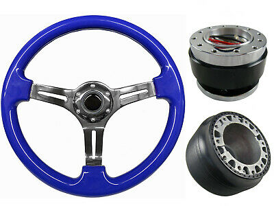 Blue Chrome Quick Release TS Steering Wheel + Boss Kit fits LEXUS/ALTEZZA 034