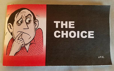 """The Choice"" Evangelical Christian Jack Chick Tract booklet  VERY GOOD condition"