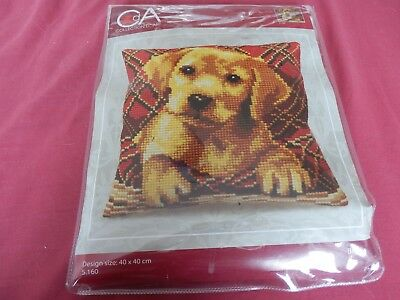 Tapestry cushion kit - Cute Puppy -called Brady 40cms x 40cms  NEW