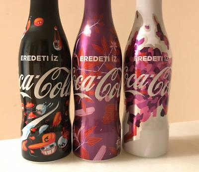 Rare Coca-Cola (Eredeti Íz) alu bottle - 3 pcs * 250 ml set - Hungary