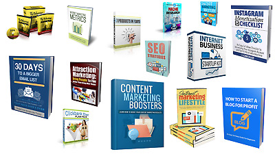 14 Make Money Cash Online Affiliate Marketing eBooks With Resell Rights