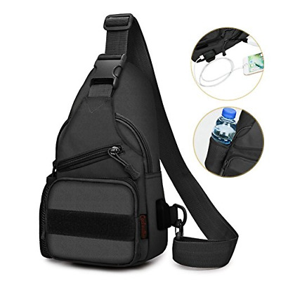 Sling Bag Shoulder Chest Cross Body Backpack for Men Women Lightweight Hiking