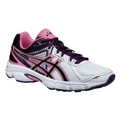 Asics Gel Ikaia 5 T46TQ 0190 White Black Pink Lace Up Running Trainers