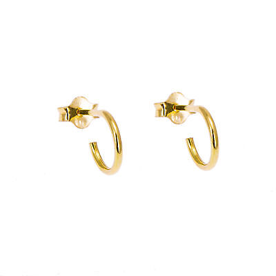 99b15b20c 14K GOLD PLATED on 925 Sterling Silver Hinged Hoop Sleepers Earrings ...