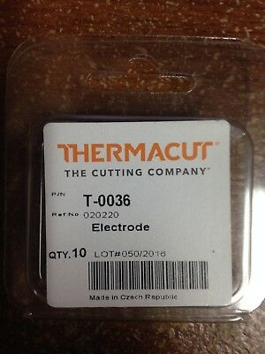 Item 178-Replacement Electrode 020220, For MAX 20 Plasma Cutters, 10-Pack