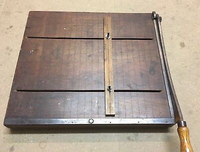 vintage paper cutter guillotine