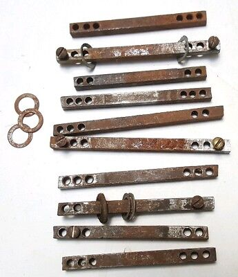 Lot Of Vintage Door Knob Latch Spindles Bars Crafts Sculpture Repurpose Salvage