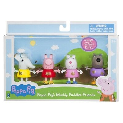 Jazwares Peppa Pig 92648 Muddy Puddles Friends 4 Pack
