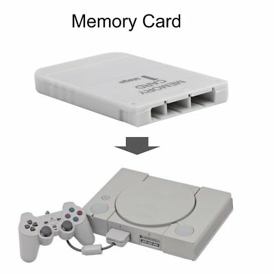 PS1 Memory Card 1 Mega Memory Card For Playstation 1 One PS1 PSX Game Useful QY