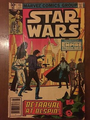 Star Wars Marvel Comics Group Volume No. 43; 50 cents 1981