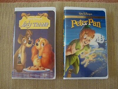 Walt Disney's Special Edition Peter Pan -MASTERPIECE Lady & the TRAMP VHS
