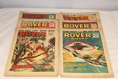 6  Rover  + Wizard  Comics...1966...strong  Spines...nice  +  Clean....lot  1