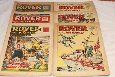 6  Rover  + Wizard  Comics...1966...strong  Spines...nice  +  Clean....lot  4