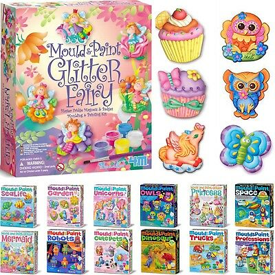4M Mould & Paint Adorable Plaster Fridge Magnets And Badges - 15+ to choose from