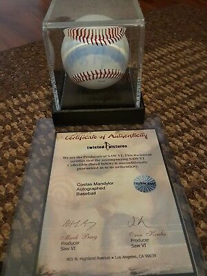 Saw  baseball  signed by Costas Mandylor with COA