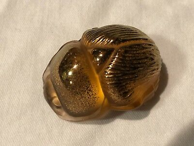 Genuine Lalique Crystal Scarab New In Box - NO RESERVE!