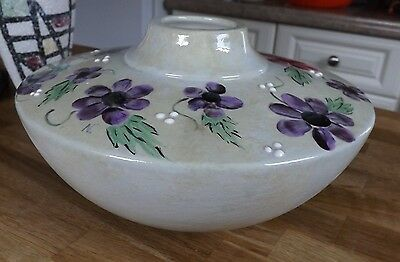 Japanese Pottery Vase. Great Colour - Interesting Shape Hand Painted