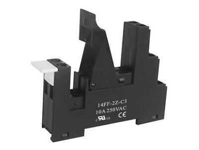 IP20 Single/Double Pole Din Rail Mount Relay Base Suitable for 8 Pin PCB Relay