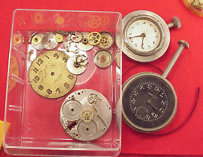 Vintage 8 Day Waltham 36 Size Car Clocks Parts Repairs 2 Pieces