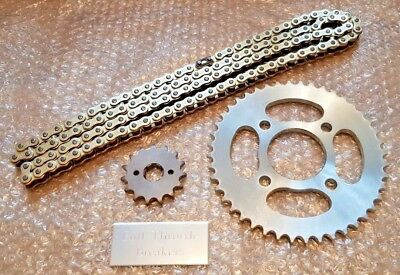 Honda Cbr 125 R / D Jc50A 2013-2014  Heavy Duty Gold Chain And Sprockets Kit